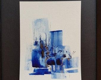 Blauwe nacht uil kinder illustratie art print etsy