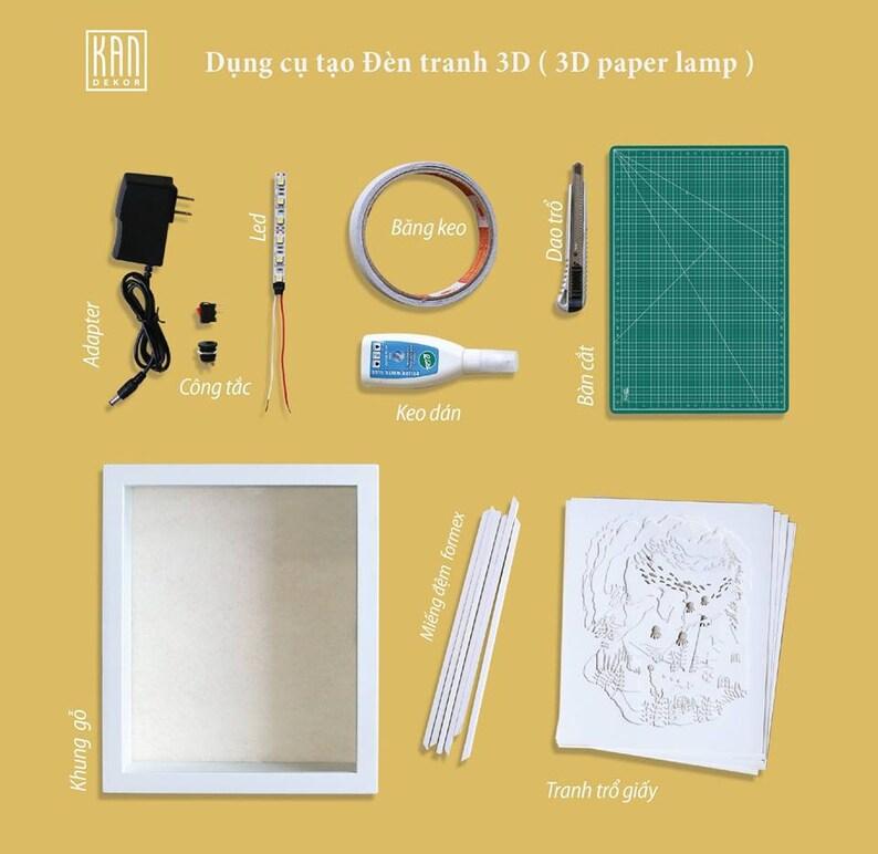 Shadow box SVG Lighthouse 3D Paper cut light box template SVG files Lighthouse Template Light box Paper Cut SVG files