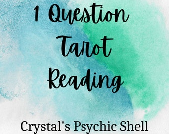 Psychic Tarot 1 Question Reading Fast Dispatch