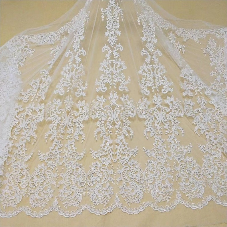 New style Elegant embroidery lace fabric vintage bridal lace for wedding gown Bridesmaid dress girl skirt dress veil