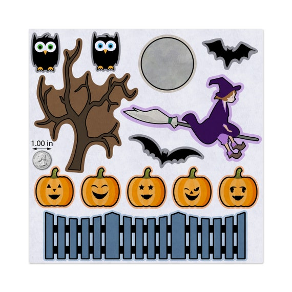 "Halloween Themed Colours ""HALLOWEEN"" Felt Letters 3.5"" Approx. Brand New"