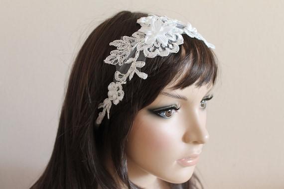 Bridal bijoux cheveux bande dentelle accessoires pour cheveux