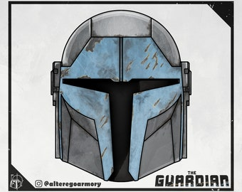 The Guardian: 3D printable helmet inspired by the Mandalorian