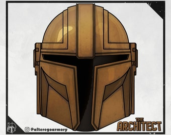 The Architect: 3D printable helmet inspired by the Mandalorian
