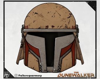 The Dunewalker: 3D Printable Custom Designed Mandalorian Helmet