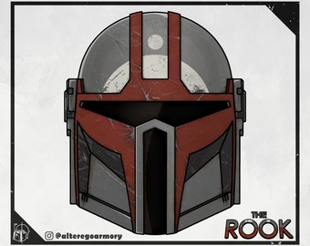 The Rook: 3D printable helmet inspired by the Mandalorian