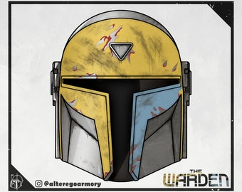 The Warden: 3D printable helmet inspired by the Mandalorian