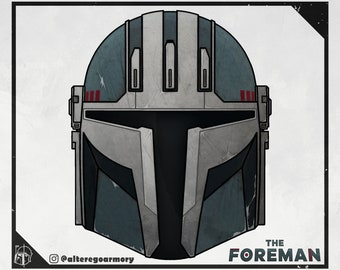 The Foreman: 3D printable helmet inspired by the Mandalorian