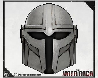 The Matriarch: 3D printable helmet inspired by the Mandalorian