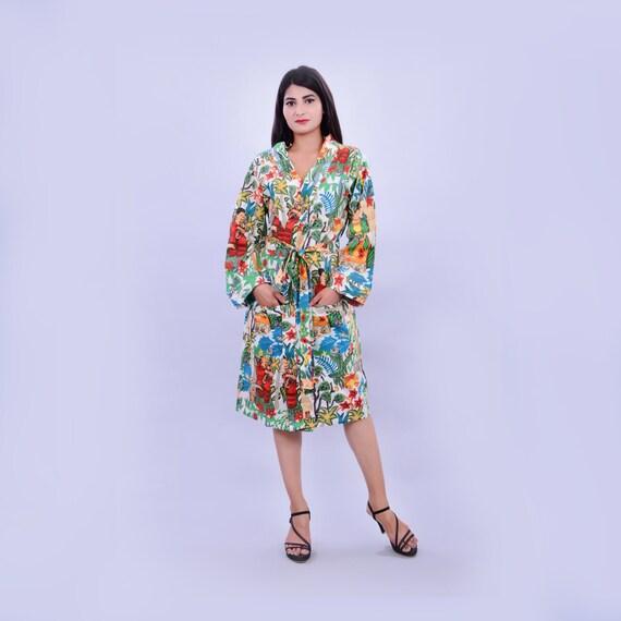 6d044e481c Beautiful Print Robes Cotton Robes Kimono Printed Soft