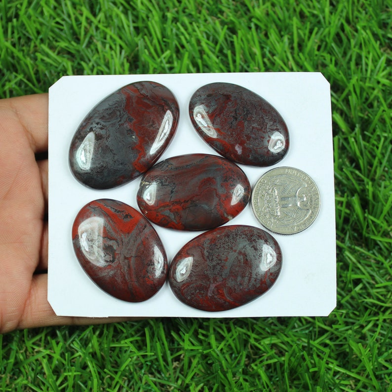 Natural Conglomerate Jasper Cabochon Loose Gemstone 5 Pcs Wholesale Conglomerate Jasper Lot Wire Wrap Stone Handmade Gemstone For Jewelry