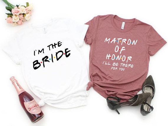 Matron of Honor Shirt Matron Of Honor Proposal Wedding Day Shirt Bachelorette Party Tshirts Bridesmaid T-shirt Bridesmaid Proposal Gift