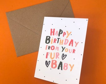 Birthday Card From Pet