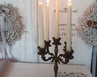 alter Messing Kerzenleuchter im Landhausstil * 5 armig * Kerzenständer vintage *