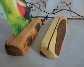 2 card stands yew and apple tree desk seasonal table