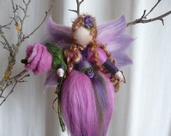 Elf in Wool Fairy Spring Waldorf Art
