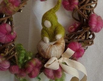 Door wreath seedling snail wreaths WaldorfArt