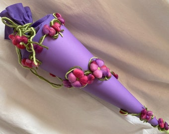 SCHOOL BAG ready for shipment Flower Magic Wool felted