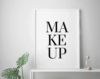 Makeup Print Poster Dress Room Decor Artist Washroom Accessories Wash Sign Dressing Prints