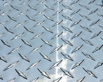"3003 Aluminum Diamond Tread Plate//Sheet  0.063/"" X 12/"" X 24/""  Free Shipping"