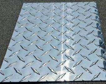 "Brite 3003 H22 .063 x 24/"" x 48/"" Diamond Tread Sheet"