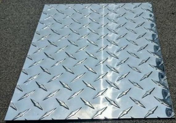 "24/"" x 36/"" 3003 Aluminum Diamond Plate 16 Gauge Tread Brite Chrome High Polish"