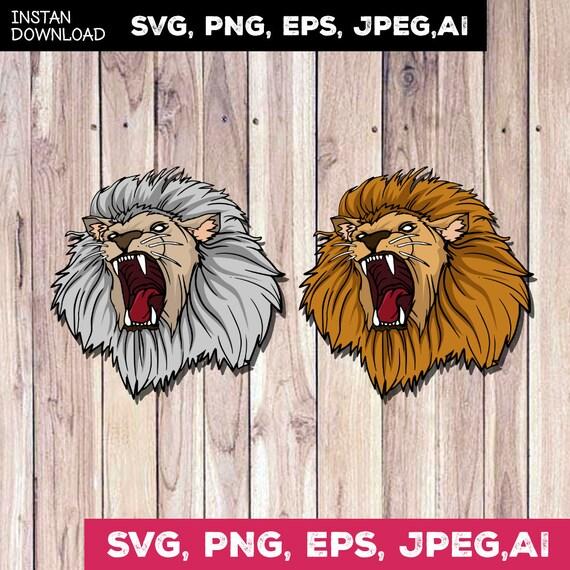 Lion Silhouette Svg Lion Clipart Lion Svg Shirts Lion Head Etsy