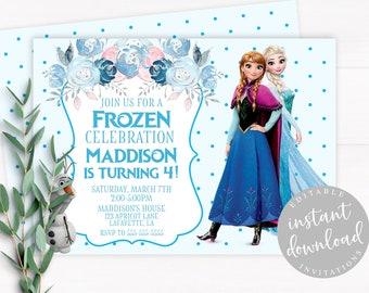 Frozen Birthday Invitation Etsy