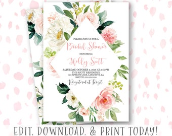 bridal shower invitation editable bridal shower invitation instant download bridal shower invitation fall bridal shower invitation