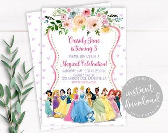 Disney Princess Invitation Birthday
