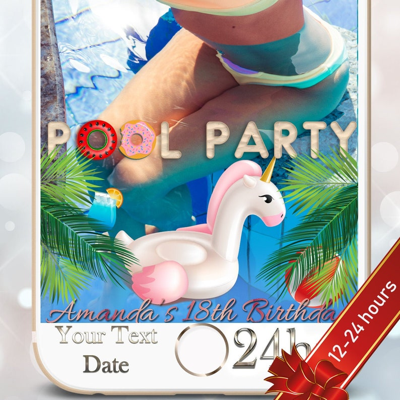 Christmas Themed Pool Floats.Pool Party Birthday Snapchat Geofilter 18th Birthday Geofilter Bachelorette Party Snapchat Beach Themed Beach Bash Summer Party Filter