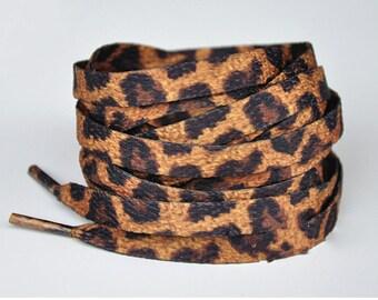 Leopard shoelaces | Etsy