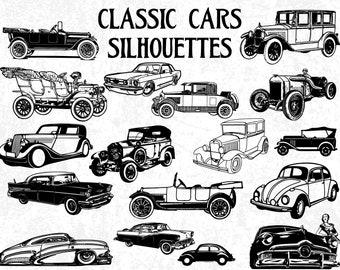Cuttable Classic Sports Car Svg American Car SVG 1950/'s Classic Car SVG Silhouette Clipart Antique Old Classic Retro Car Svg