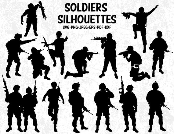 soldiers silhouette clip arts army troops silhouettes svg cut etsy soldiers silhouette clip arts army troops silhouettes svg cut files for silhouette studio and cricut soldiers vinyl design silhouettes svg