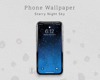 Starry Night Sky Phone Wallpaper, Lock Screen, iPhone & Android Wallpaper - Digital Download