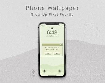 Retro Pixel Phone Wallpaper, Lock Screen, iPhone & Android Wallpaper - Digital Download
