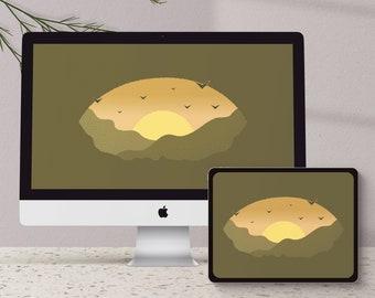Sunset Desktop Wallpaper/Background | Desktop & Tablet Wallpaper - Digital Download
