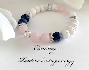 Pure Love Lucky Pink Quartz Gemstone Earrings Rose Quartz /& Pearl Earrings Mom Gift for Her Boho Pink Heart Chakra Jewelry
