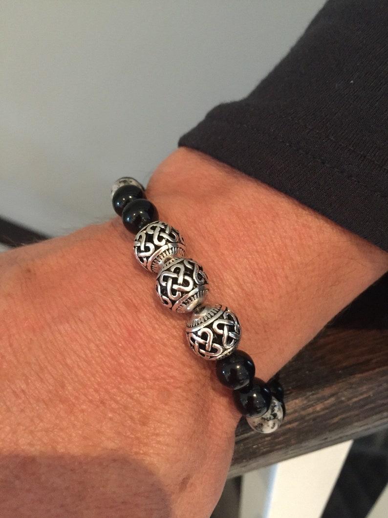 Mens Bracelet House of Lannister Beaded bracelet anniversary gift Bracelet for Men