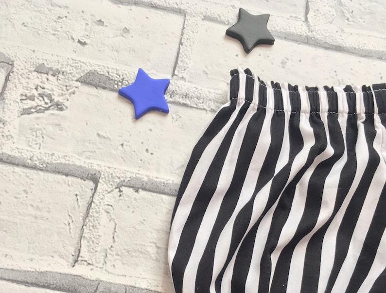 Alternative Black /& White Striped Bloomers