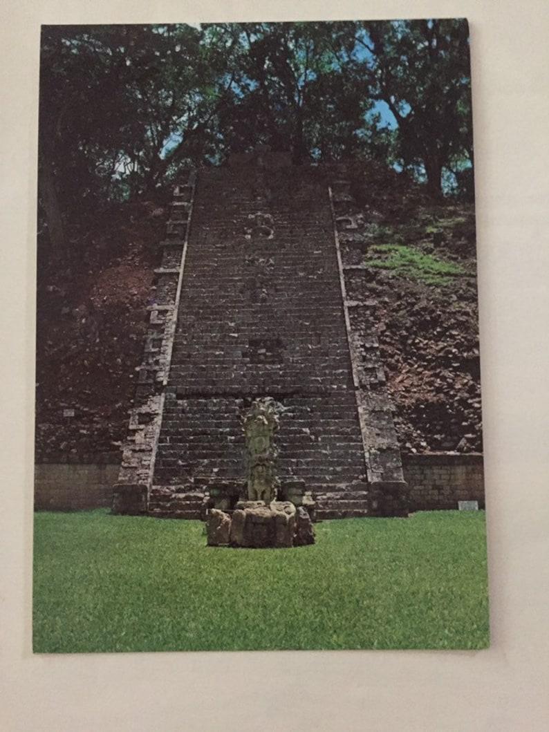 Three Vintage 1980s Souvenir Postcards From The Copan Ruins Honduras Chrome Era Travel Post Cards