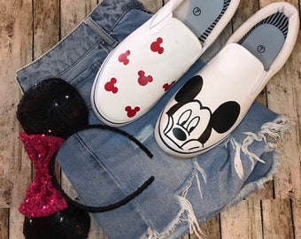10d8d4ff5 Mickey Mouse Disney Shoes   Custom made Disney Shoes   Disney Shoes    Disney women   disney kids   shoes