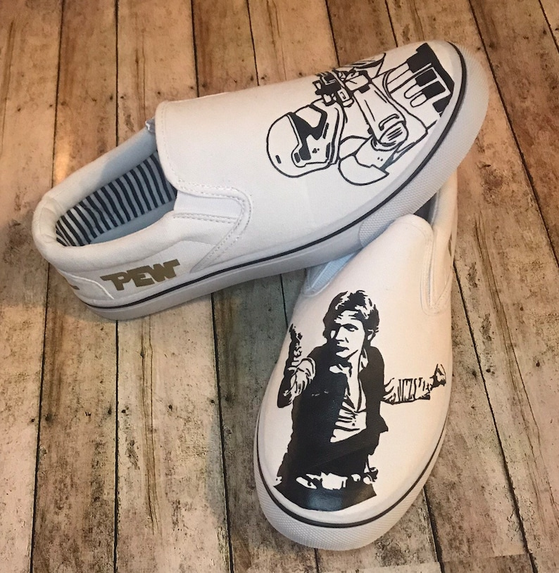 66137ba7913eb Star Wars Shoes/Disney Shoes/Star Wars Shoe/ hans solo/ storm trooper/ pew  pew pew/ shoes/ mens shoes/ disney