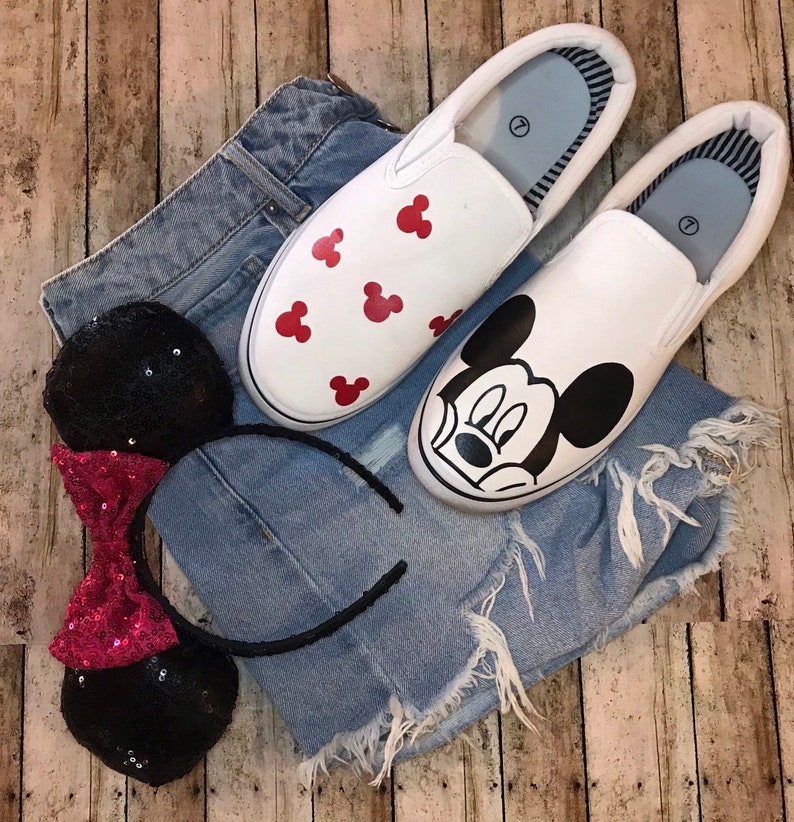9ff4c976bd8c7 Mickey Mouse Disney Shoes / Custom made Disney Shoes / Disney Shoes /  Disney women / disney kids / shoes