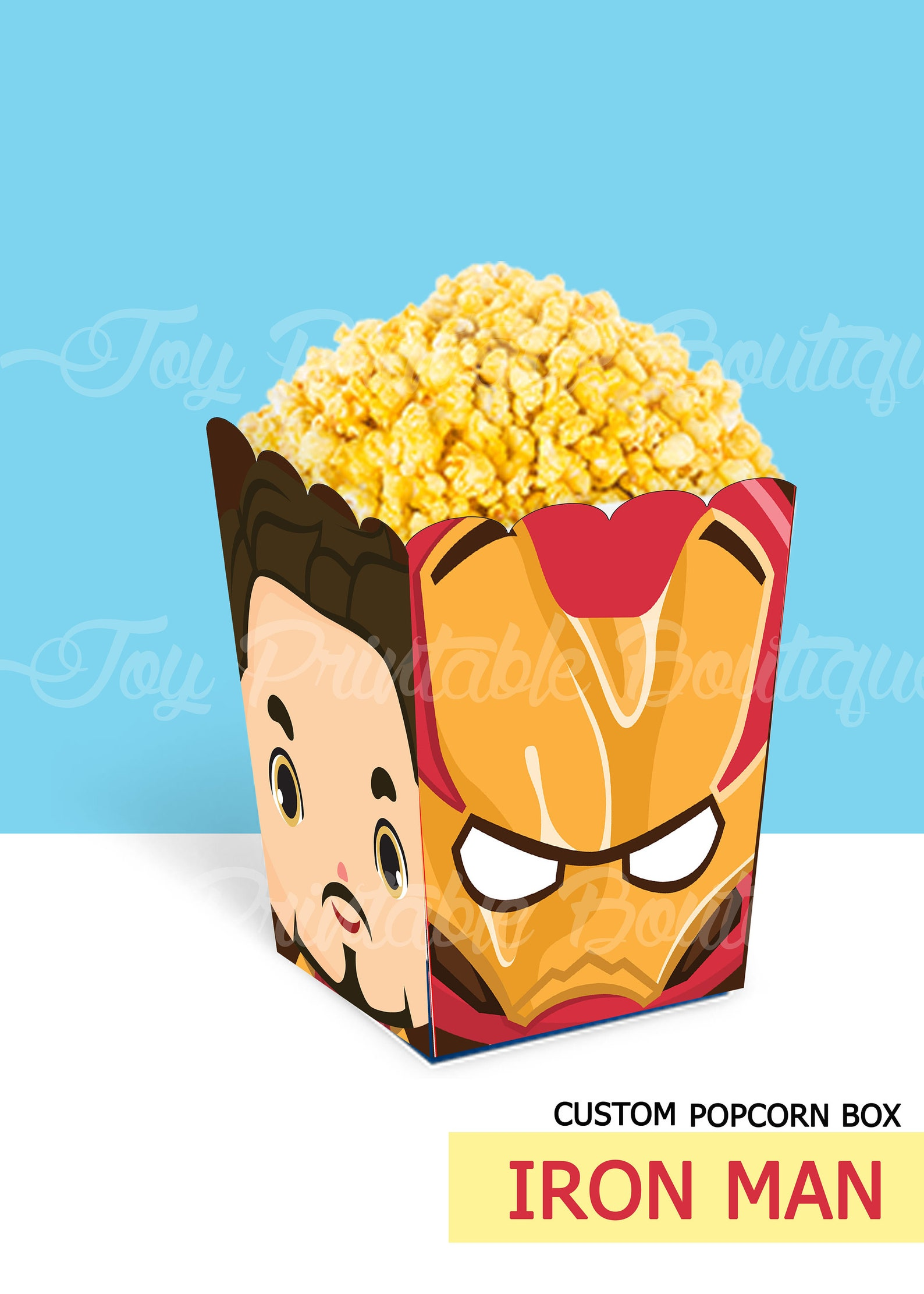 Iron Man Printable Popcorn Boxes
