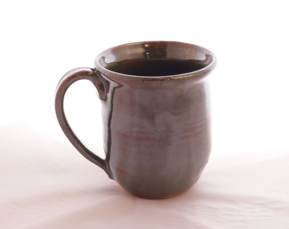 Forest green glazed ceramic mug