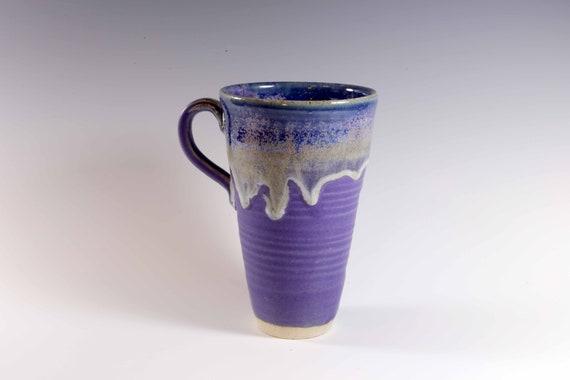 Tall purple blue mug