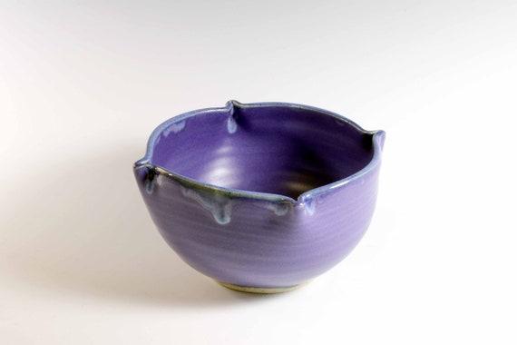 Lapis satin glazed bowl