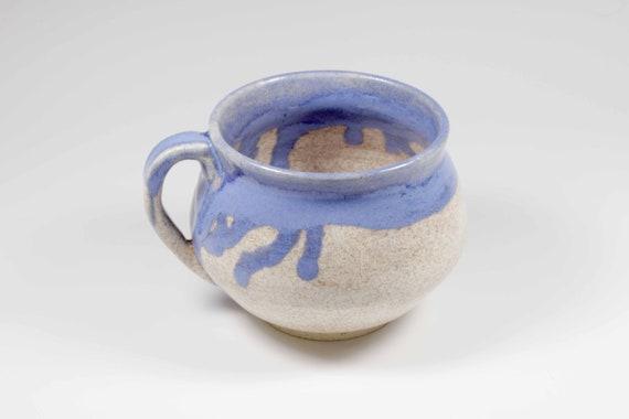 Oatmeal/blue glazed mug