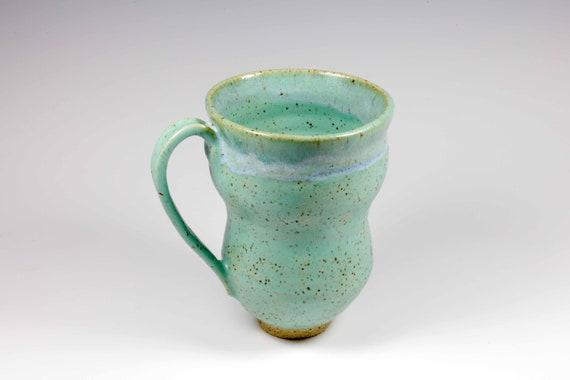 Seafoam satin green mug